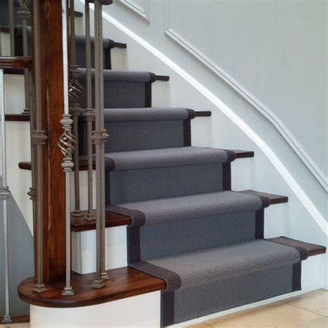 stair runner ideas grey carpet stair runner on wood stairs house ideas