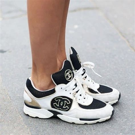 chanel sneakers shoes chanel sneakers white black low sneakers chanel