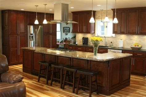 multi wood kitchen cabinets our 2011 contest winner on cg dark cherry color contrasts