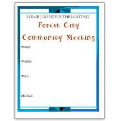 Community Templates by 5 Microsoft Publisher Flyer Templates For Community Meetings