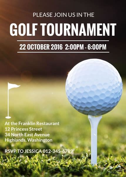 Golf Tournament Invitation Template Golf Tournament Invitation Template Free