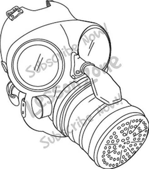 printable gas mask template w mask colouring pages