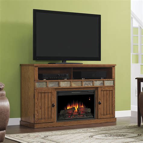 margate electric fireplace media cabinet in premium oak