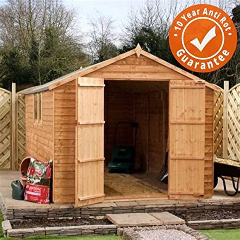 Www Waltons Co Uk Garden Sheds by 8x8 Overlap Wooden Apex Garden Storage Shed Doors Windows By Waltons House And