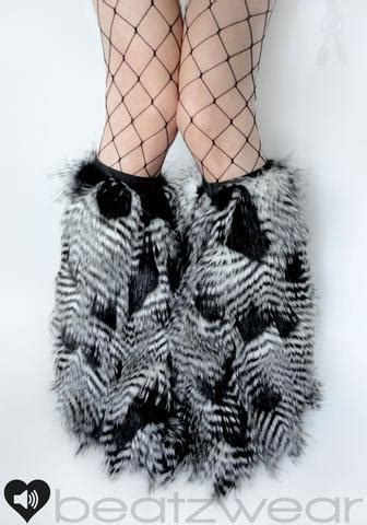 fur pattern free pick fluffies furry leg warmers rave fluffies beatzwear com