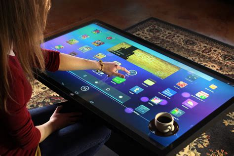 Android Table ideum s 46 multitouch coffee table dj s