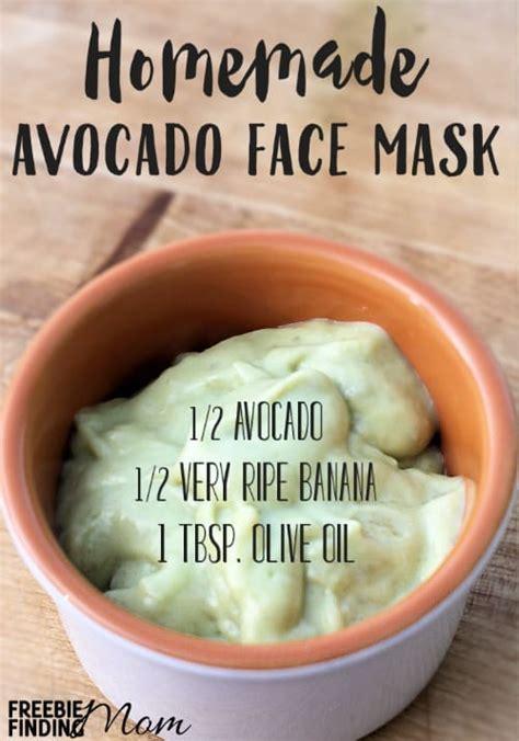 diy mask ingredients avocado mask recipe