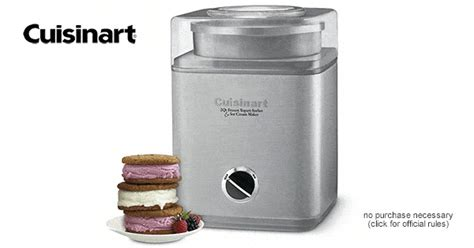 Automatic Sweepstakes Entry - enter for a chance to win a cuisinart pure indulgence automatic ice cream maker
