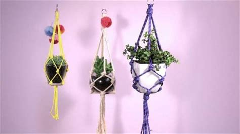 Make Macrame Plant Hanger - 25 diy plant hangers with tutorials diy crafts