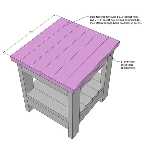 1000 ideas about end table plans on pinterest end