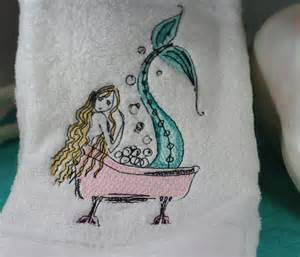mermaid bath towels mermaid bath embroidered bathroom towel