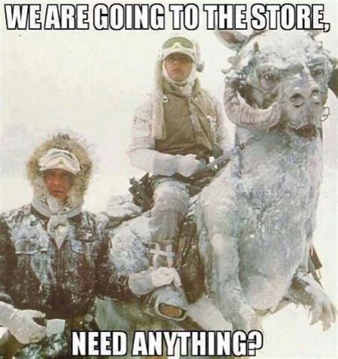 Memes About Winter - funny star wars pictures jawas mewbacca snow cars 8