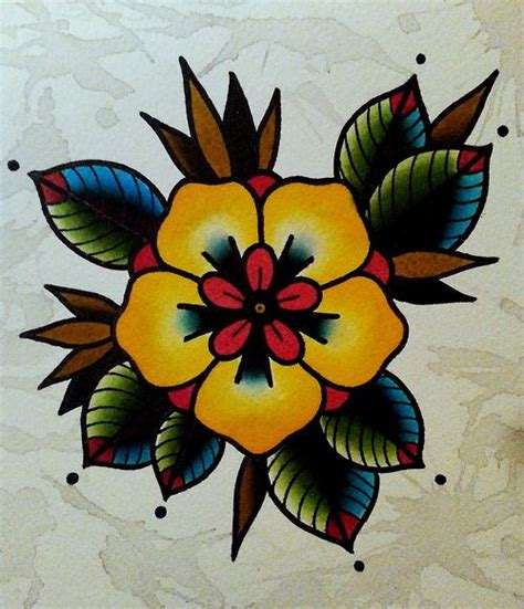 old school flower tattoo designs best 25 traditional flower tattoos ideas on