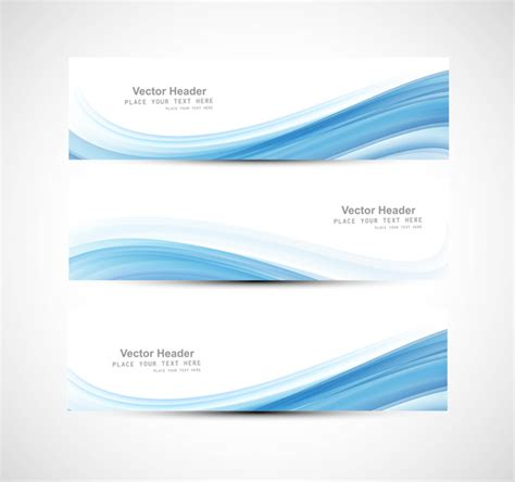 design for header and footer abstract header blue wave vector design free vector in