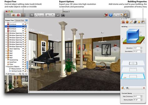 home design software with 3d design your own home using best house design software