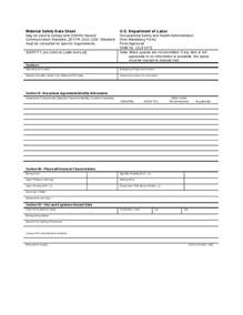 Msds Template material safety data sheet msds hashdoc