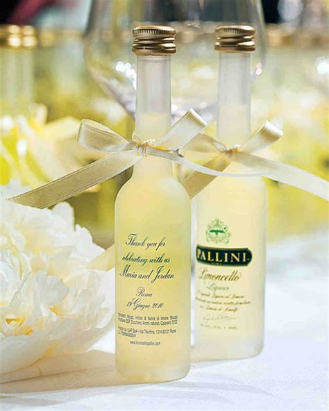 Wedding Favors Bottles by A Outdoor Destination Wedding In Rome Italy