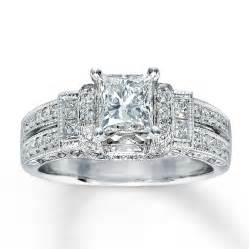 Wedding rings for women kay diamond engagement ring ct tw princess cut