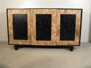 Fun Bedroom Furniture by Hand Made Sliding Door Osb Credenza With Hardwood Feet By