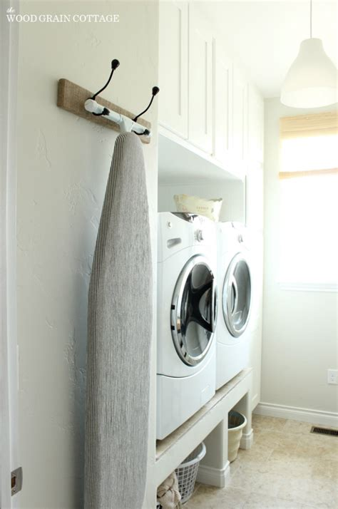 Ironing Board Rack by Hanging Ironing Board Rack The Wood Grain Cottage