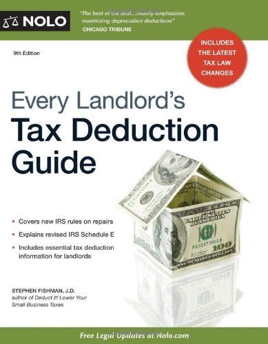 every landlord s tax deduction guide books every landlord s tax deduction guide 9781413317688