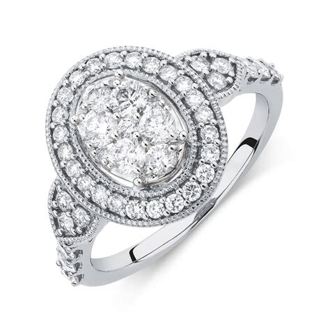 Engagement Ring With 1 Carat Tw Of Diamonds In 14ct Yellow by Engagement Ring With 1 Carat Tw Of Diamonds In 14kt White Gold