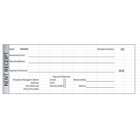 rent receipt template excel rentreceipts new calendar template site