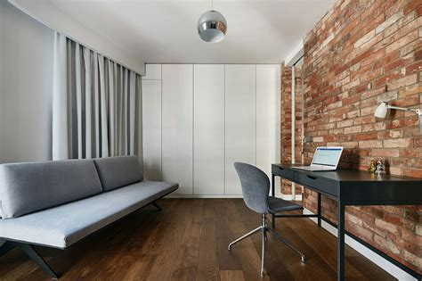 home with exposed brick and renovated krakow apartment showcases of exposed