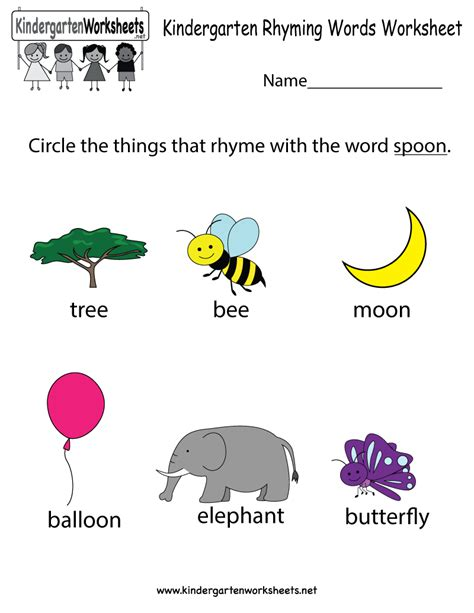 Rhyming Worksheets For Kindergarten by Rhyming Words Worksheet Search Results Calendar 2015