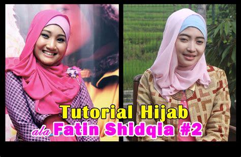 tutorial hijab pashmina fatin shidqia lubis dunia hani