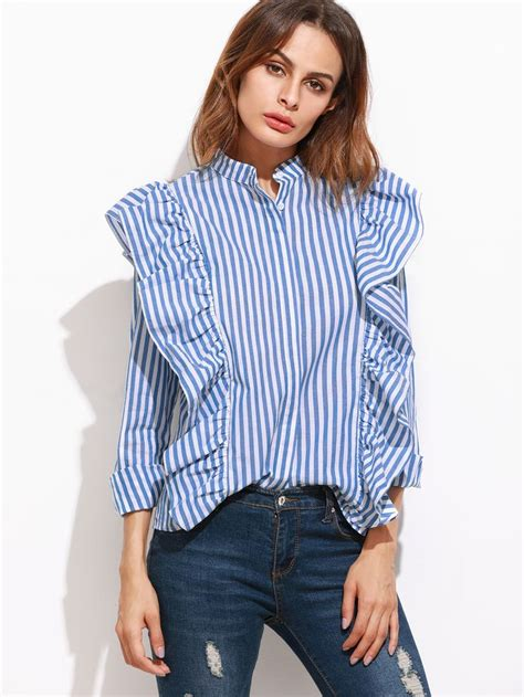 Striped Ruffled Blouse best 25 ruffle blouse ideas on ruffle shirt