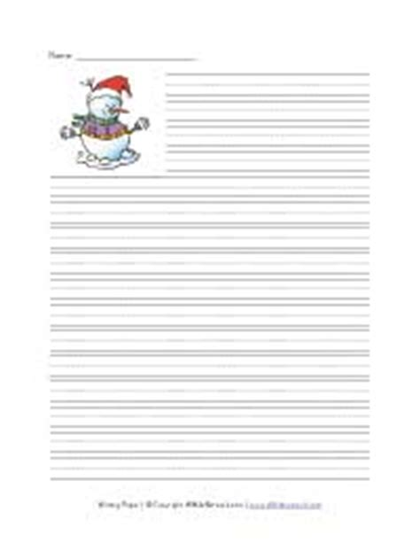 winter themed writing paper seasonal and writing paper all network