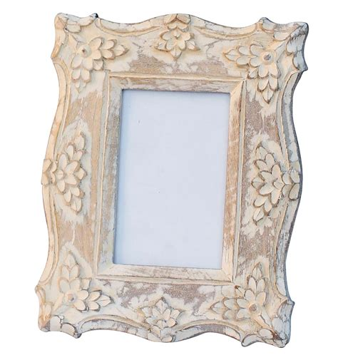 buy 4x6 inches white shabby chic picture frame in bulk wholesale hand crafted distressed look