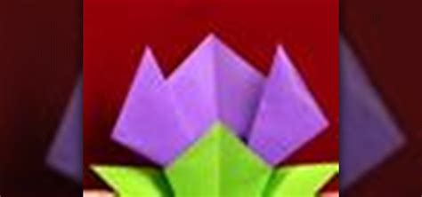 Origami Tulip Leaf - how to origami a tulip flower 171 origami