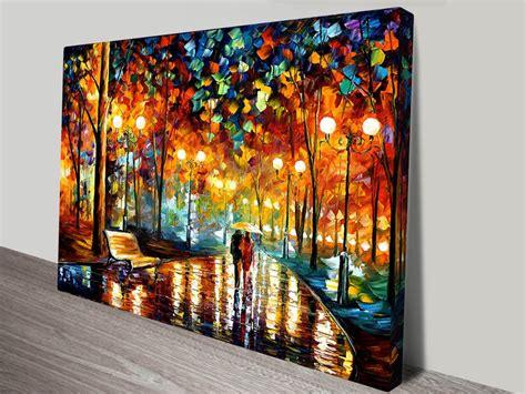 canvas prints rain rustle leonid afremov canvas art print