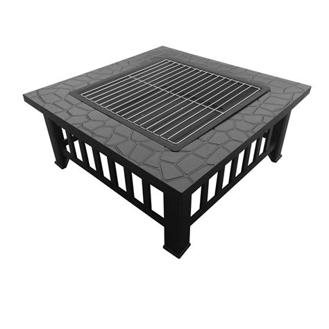Patio Table Grill Outdoor Pit Bbq Table Grill Garden Patio Cing Heater Fireplace Brazier Ebay