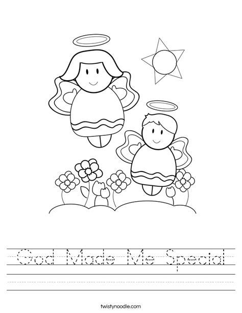 God Made Me Worksheet by God Made Me Special Worksheet Twisty Noodle