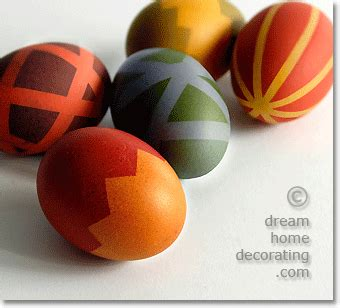 easter egg designs how to decorate easter eggs with dye and masking tape