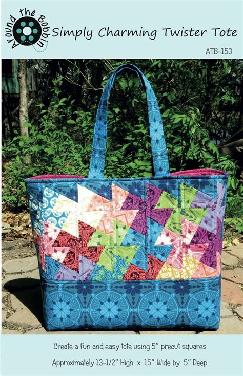 twister tote bag pattern simply charming twister tote pattern by around the bobbin