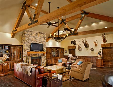 Trophy Room Dallas by This Trophy Room Is A Real Cave Traditional