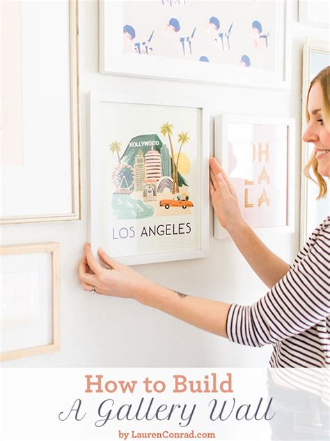 how to build a bedroom wall home makeover how to build a gallery wall lauren conrad