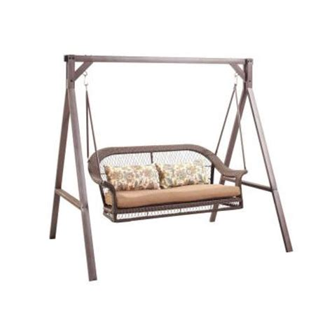 swing cushions home depot wicker patio swing gcs00180a the home depot