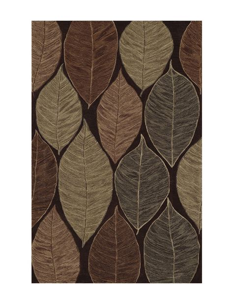 large brown area rugs dalyn rugs studio plush collection chocolate brown large leaf print area rug stage stores