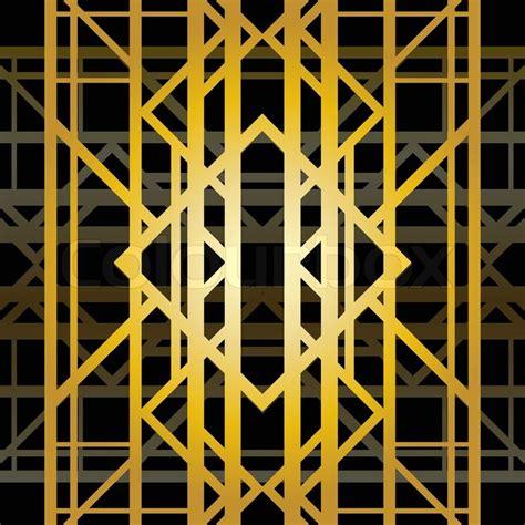 pattern art deco art deco geometric pattern 1920 s style stock vector