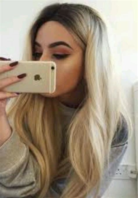 how to blend in hair roots blonde human hair wig real hair hair blend long ombr 233