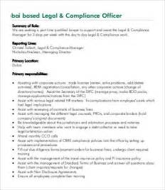 compliance officer description 9 free word excel