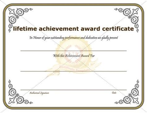 certificate of performance template certificate of achievement template awarded for different