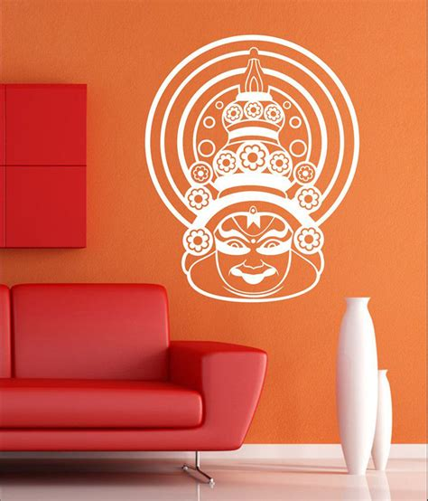 white wall stickers wall1ders kathakali white wall sticker buy wall1ders kathakali white wall sticker at best price