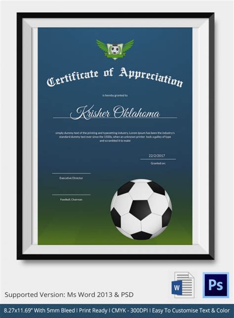 certificate of attendance template ms word fresh template sport