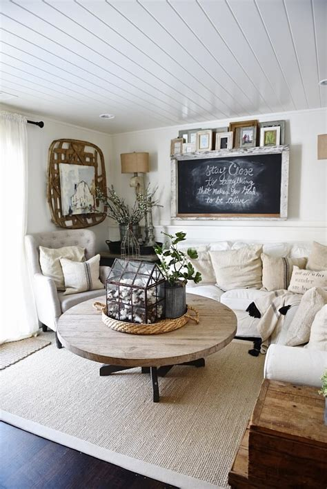 rustic farmhouse living room ideas youll love homesfeed